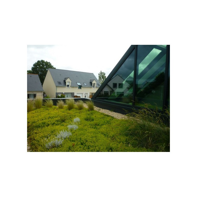 Covertiss Modulo® : module pour toiture végétalisée avec un filtre et sac de substrat spécial ...